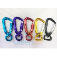China Aviation Auto Lock Snap Hook Carabiner Aluminum 9CM Length For Coil Lanyard on sale