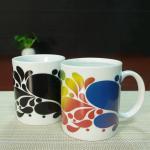 Custom ceramic heat activated coffee mug personalised heat change mug Manufactures
