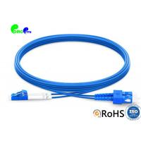 1m SC UPC to LC UPC Duplex OS2 Single Mode Armored PVC (OFNR) 3.0mm Fiber Optic Patch Cable Manufactures
