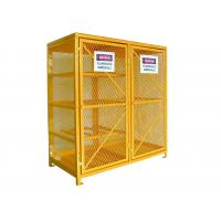 China Vented Gas  Cylinder Storage Cabinets 8 Horizontal 9 Vertical 5 Shelves Yellow Color on sale