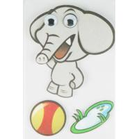 Soft Kids 3D Cartoon Stickers Promotional Baby Elephant Wall Stickers  Manufactures
