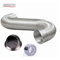 Aluminum Semi Rigid Flexible Duct / Stainless Steel Round Air Vent Covers Manufactures