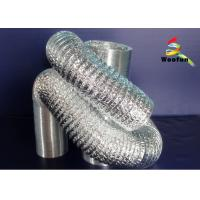 Round HVAC Aluminum Flexible Duct , Customized Fire Resistant Flexible Ducting Manufactures