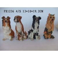 Customized Design Polyresin Figurine Dog Garden Statues With Different Postures Manufactures