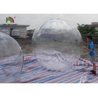 1.8m Clear PVC Inflatable Water Ball / Inflatable Water Walking Ball For Kids Manufactures