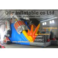 Quality Big transformers slide inflatable aqua robot slide with safe baffle for sale
