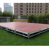 Fast Install, Good loading Capacity, Brown Red Aluminum Plywood Portable Stage Manufactures