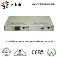 SC Single Mode Fiber Ethernet Media Converter 10 / 100 / 1000M One TO One Managed Manufactures