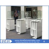 Oem manufacturing good price wooden glass white color perspex display stands with locks Manufactures