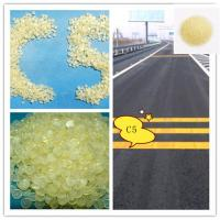 China thermoplastic road marking paint 3# 4# 5#  C5 Hydrocarbon Resin / Petroleum Resin light yellow color granule on sale