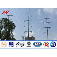 Powder Coating Electrical Steel Transmission Line Poles 355 Mpa Yield Strength Manufactures
