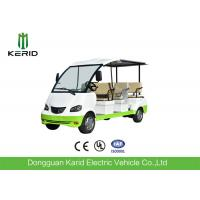 Curtis Controller 48V Electric Sightseeing Car / Electric Passage Car 8 Seaters With Onboard Charger Manufactures
