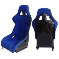 Fabric + Blk Fiber Glass Bucket Racing Seats With Belt Harness Holes Manufactures