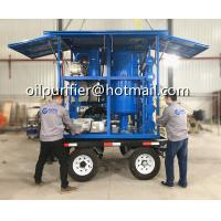 China Mobile Trailer Mounted Vacuum Transformer Oil Purifier,Insulation Oil Filtration ,Dielectric Oil Purification System on sale