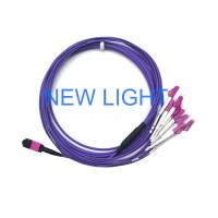 Mpo Optical Connector Om3 Multimode Fibre Optic Cable For Mpo Cassette Patch Panel Manufactures