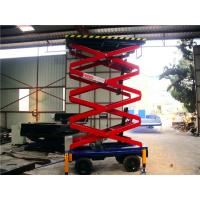 China 6 meters hydraulic lifting equipment with motorized device , 500Kg loading on sale