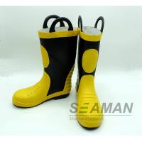 Steel Toe Fireman Rubber Boots Fire Fighter'S Equipment EN15090-2012 Safety Shoes Manufactures