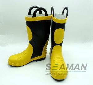 Steel Toe Fireman Rubber Boots Fire Fighter