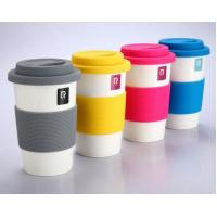 Candy Colour Silicone Rubber Coffee Cup Lid And Sleeve With High Quality Heat Resistant And Anti Slip For Drinkware Manufactures