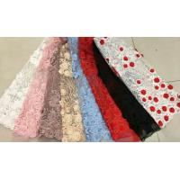 Floral Multi Colored Lace Fabric Beaded Embroidered Mesh Fabric For Fashion Show Manufactures