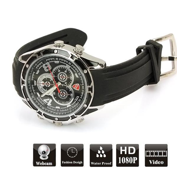 Hidden Camera | Waterproof 32GB 1080P High Definition IR Spy Night Vision Camera Watch