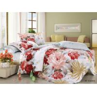 Polyester Cotton Blend 4 Piece Bedding Set Embroidered Flower Printed Manufactures