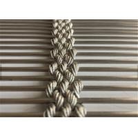 Stainless Steel Architectural Wire Mesh Facade, Decorative Cable Rope Wire Mesh Manufactures