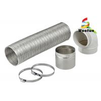 Quality Expandable Semi-Rigid Flexible Aluminum Pipe Duct with Clamps for Heater for sale