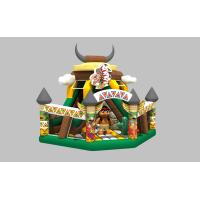 Small Commercial Inflatable Dry Slide For Kids With Fence Size 7x7x6.8m Manufactures