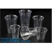China Elegant Shape Drinking Straw Promotional Cups With Straws Single Wall Plastic Cup,double wall custom plastic cups no min on sale