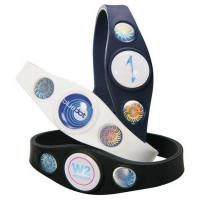 China Energy Power Balanced Sports Silicone Bracelets Indigo Blue on sale