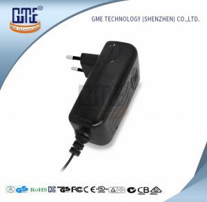 CCTV Cameras EU Plug Power Adapter AC DC  Black 90V - 264V AC Input Voltage Manufactures