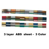 60x120cm 3 - Ply Abs Plastic Sheet  Engravable For Indoor Non-Illuminated Signs Manufactures
