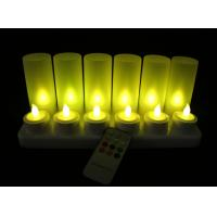 China remote Rechargeable tea light candles Set of 12PCS /led  Candle on sale