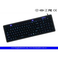 China IP68 Washable Black Super Slim Silicone Keyboard USB Interface Long Life on sale