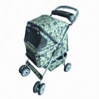 Durable 4 Wheels Pet Stroller with Lightweight Steel Frame Manufactures
