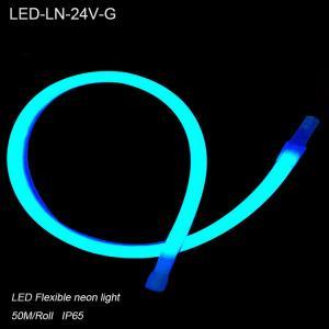 IP44 24V Waterproof Green flexible LED Neon lights/ LED strip Lighting for building Manufactures