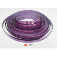 Purple PVC / Acrylic Fitment / Furniture Edge Banding 2mm / 3mm With No Bubble Manufactures