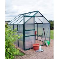 8*8FT aluminum greenhouse---two doors and one roof window Manufactures