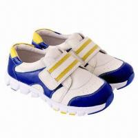 Children's sports shoes with genuine leather and EVA outsole