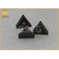 Hard Steel Triangle Carbide Inserts , Hardbess Tungsten Carbide Tool Inserts Manufactures