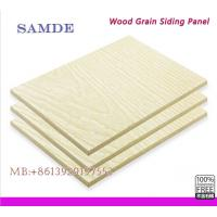 China Weatherproof fiber cement wood grain siding panel for external wall 3050*192*7.5/9mm on sale