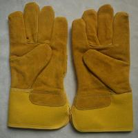 China cow spilt leather industrial working gloves safety mechanic gloves for workers wholesale