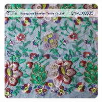 Eco - friendly Cotton  Lace Fabric Floral Embroidered With 120cm Width Manufactures