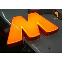Custom Formed Lighted LED Plastic Sign Letters With Metal Returns Manufactures