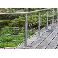 China Energy Conservation Stainless Steel Guardrail , Stainless Steel Banister Easy Maintenance on sale