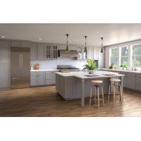 China New wooden kitchen cabinet designs modern Sets with sink and Quartz countertops on sale