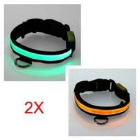 Double Row Flashing LED Pet Collars Manufactures