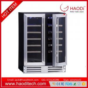 China 36 Bottles Compressor Wine Cooler (Fridges) Two Temp.Zones Stainless Steel Door on sale