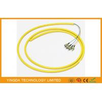 China ODF Bunchy Fiber Optic Pigtail 4 Cores LSZH 0.9MM Yellow , Single Mode Pigtail on sale